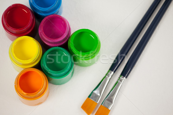 Paint brushes and watercolor paints Stock photo © wavebreak_media