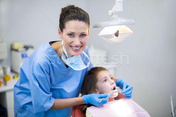 стоматолога молодые пациент инструменты стоматологических Сток-фото © wavebreak_media