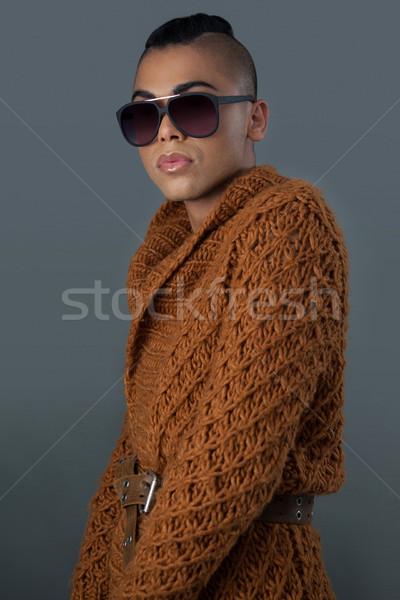 肖像 トランスジェンダー 女性 着用 サングラス 電話 ストックフォト © wavebreak_media