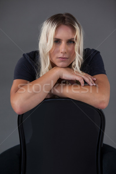 Portret mooie transgender vrouw stoel Stockfoto © wavebreak_media