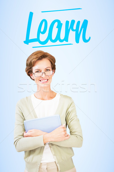 Learn against blue vignette background Stock photo © wavebreak_media