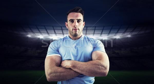 изображение регби игрок глядя камеры Сток-фото © wavebreak_media