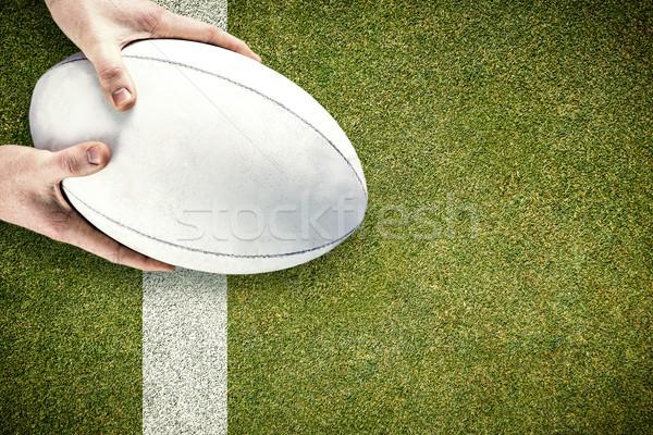 画像 ラグビー プレーヤー ラグビーボール ピッチ ストックフォト © wavebreak_media