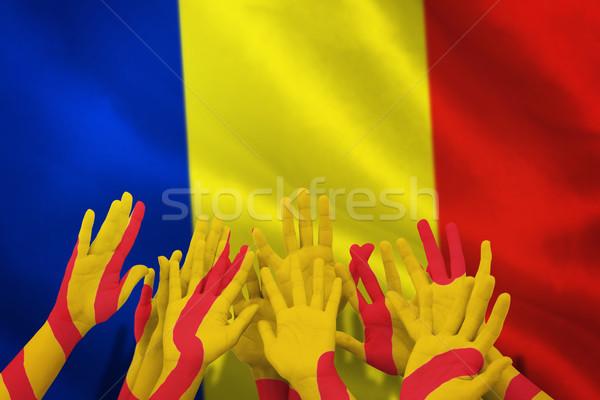 Stockfoto: Afbeelding · mensen · handen · lucht · Roemenië