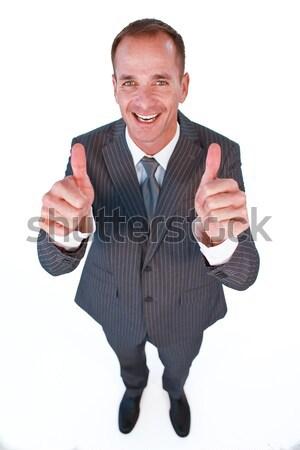 Magasról fotózva menedzser remek boldog üzlet mosoly Stock fotó © wavebreak_media
