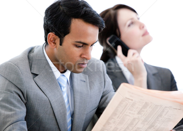Ludzi biznesu relaks poczekalnia posiedzenia sofa Zdjęcia stock © wavebreak_media