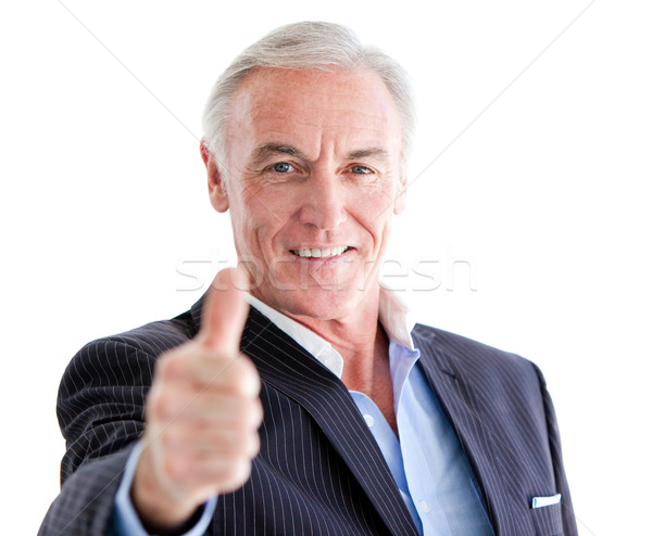 Réussi supérieurs affaires pouce up blanche Photo stock © wavebreak_media
