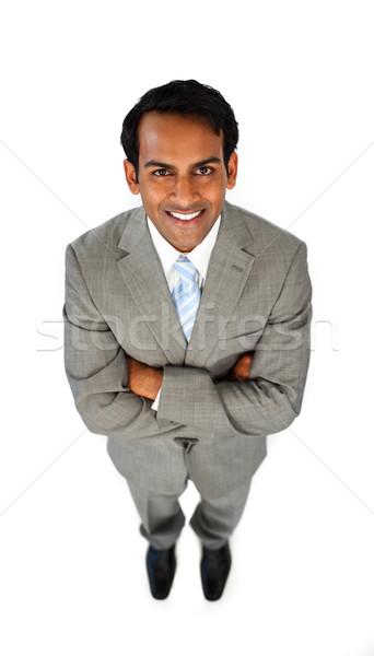 Stock photo: Ethnic businessman with folded arms