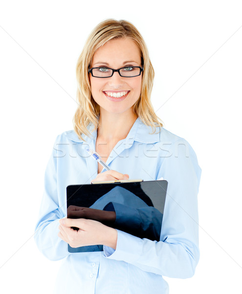 Zakenvrouw witte vrouw pen Stockfoto © wavebreak_media