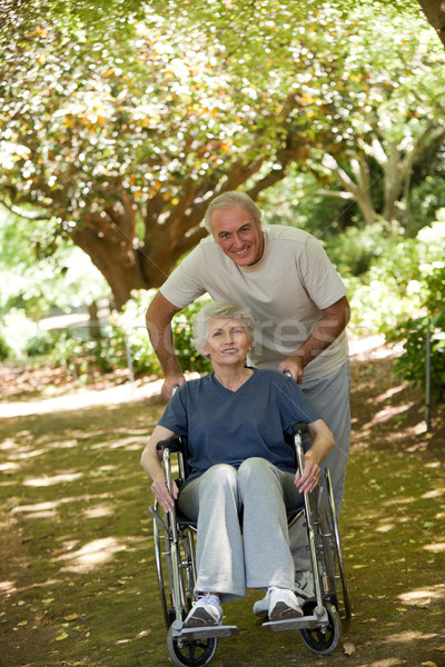 Senior couple in the woods Stock photo © wavebreak_media