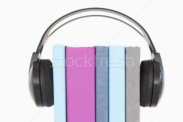 Stock photo: An audiobook concept against a white background