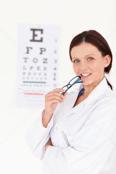 великолепный женщины оптик служба улыбка Сток-фото © wavebreak_media