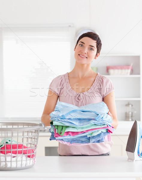Femeie haine utilitate cameră Imagine de stoc © wavebreak_media