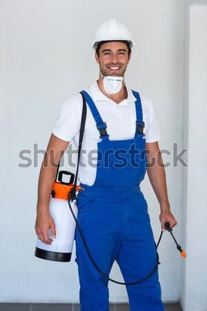 Gülen genç satıcı onay beyaz iş Stok fotoğraf © wavebreak_media