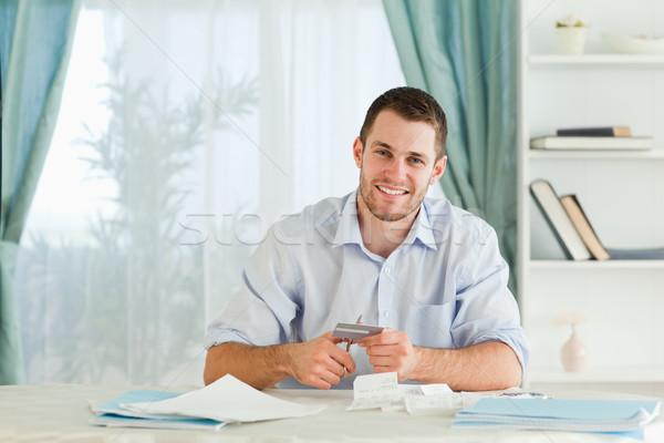 Fiatal üzletember problémák hitelkártya üzlet pénz Stock fotó © wavebreak_media