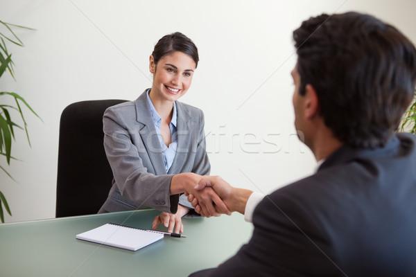 Gestionnaire client bureau affaires sourire Photo stock © wavebreak_media