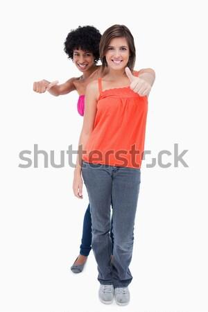Felice adolescenti lato godimento Foto d'archivio © wavebreak_media