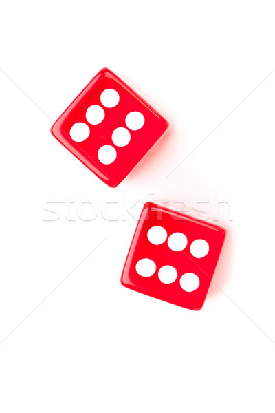 Dices designating a six number against a white background Stock photo © wavebreak_media