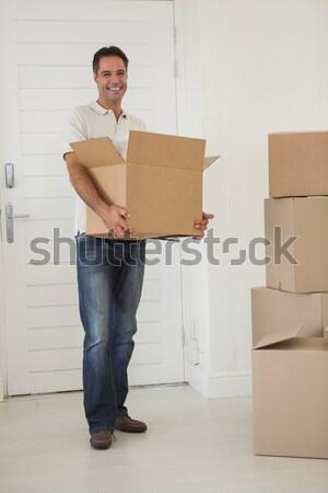 портрет молодым человеком пакет окна белый службе Сток-фото © wavebreak_media