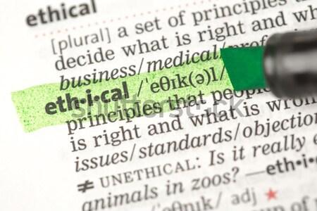 Risk tanım yeşil sözlük eğitim kırmızı Stok fotoğraf © wavebreak_media