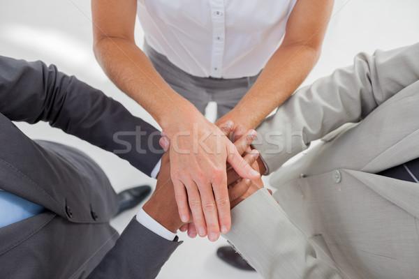 Zespołu w górę ręce wraz pracy kobieta Zdjęcia stock © wavebreak_media