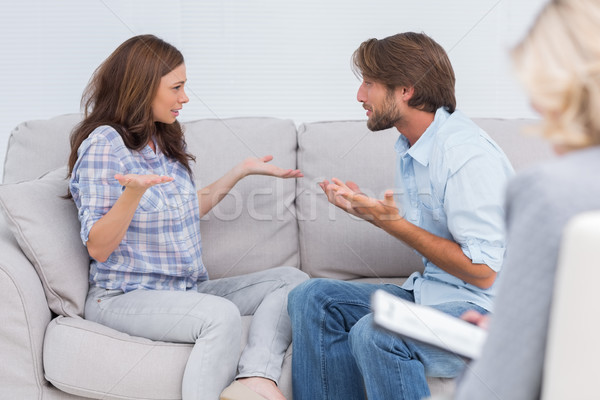 Pár terápia sír kanapé terapeuta nő Stock fotó © wavebreak_media