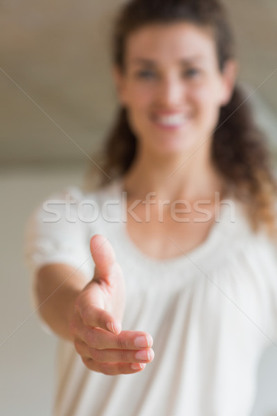 Smiling businesswoman offering handshake Stock photo © wavebreak_media