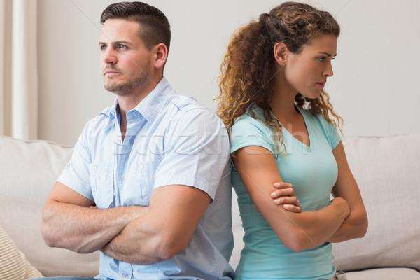 Couple quarreling in sitting room Stock photo © wavebreak_media