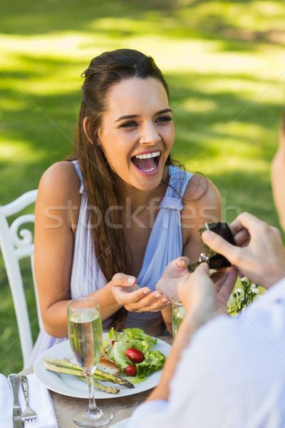 Stock fotó: Férfi · derűs · nő · szabadtér · romantikus · randevú