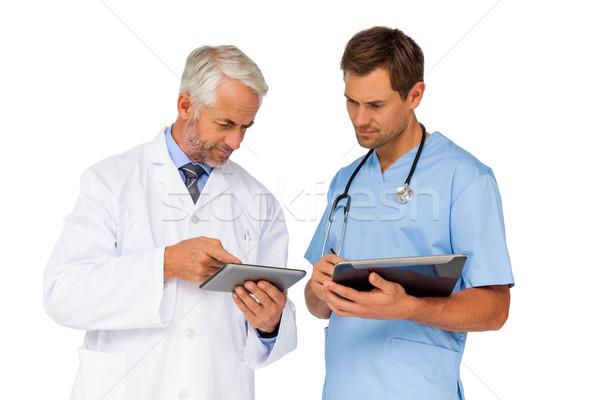 Foto stock: Retrato · doctor · de · sexo · masculino · cirujano · digital · hombre · profesional