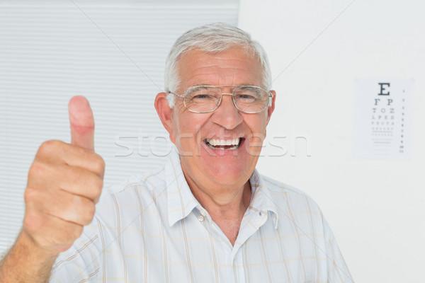 улыбаясь старший человека глаза Сток-фото © wavebreak_media