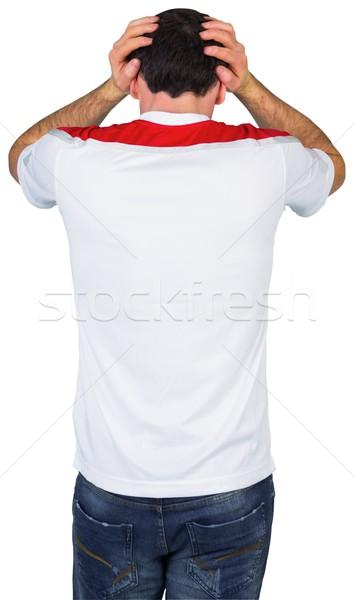 Hayal kırıklığına uğramış futbol fan beyaz adam futbol Stok fotoğraf © wavebreak_media