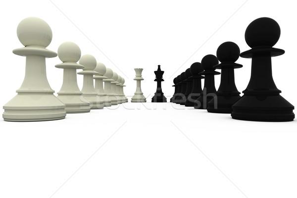 Blanco negro rey pie ajedrez negro estrategia Foto stock © wavebreak_media