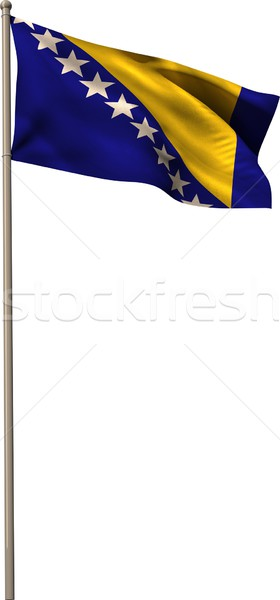 Bosnian national flag waving on pole Stock photo © wavebreak_media