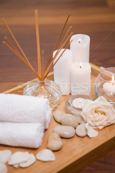 Estância termal objetos hotel vela Foto stock © wavebreak_media