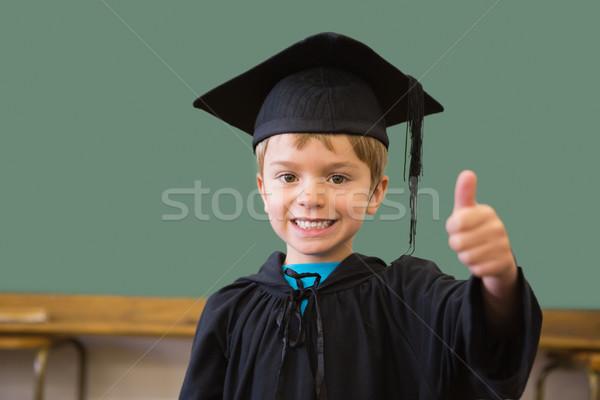 Cute окончания халат улыбаясь камеры классе Сток-фото © wavebreak_media