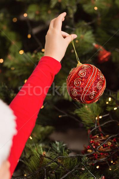 女の子 絞首刑 クリスマス 装飾 ホーム ストックフォト © wavebreak_media