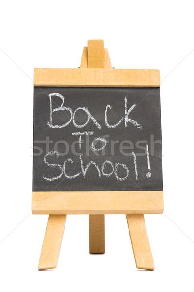 Back to school written on chalkboard Stock photo © wavebreak_media