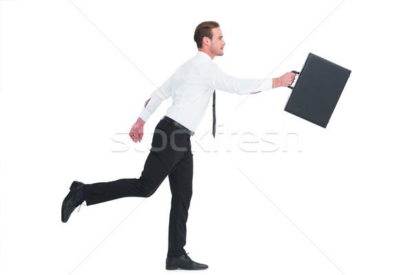 üzletember sétál aktatáska fehér vállalati profi Stock fotó © wavebreak_media