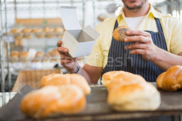 работник фартук окна хлеб хлебобулочные Сток-фото © wavebreak_media