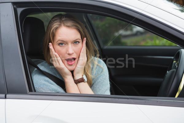 女性 座って 座席 車 肖像 ストックフォト © wavebreak_media