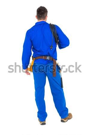 Eletricista arame cabos branco homem Foto stock © wavebreak_media