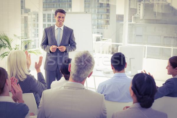 Businessman doing speech during meeting  Stock photo © wavebreak_media