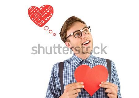 Coperto faccia amore uomo felice Foto d'archivio © wavebreak_media