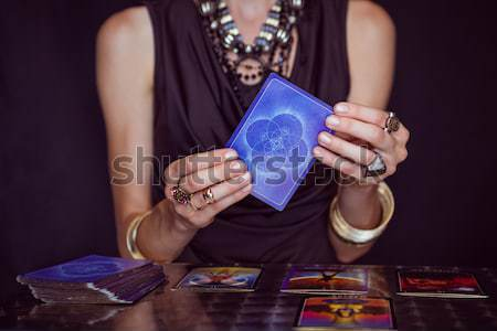 Composite image of fortune teller forecasting the future with ta Stock photo © wavebreak_media