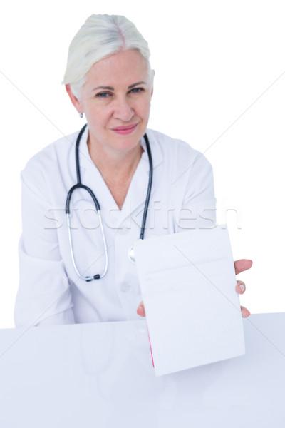 Lekarza piśmie notatnika medycznych biuro komputera Zdjęcia stock © wavebreak_media