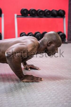 肖像 筋肉の 男 ダンベル crossfitの ストックフォト © wavebreak_media