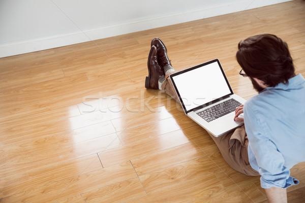 красивый используя ноутбук компьютер ноутбук Сток-фото © wavebreak_media