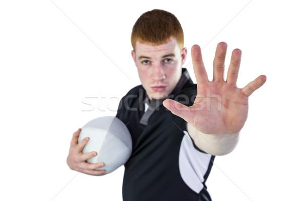 Rugby player gesturing stop sign Stock photo © wavebreak_media
