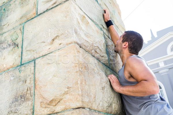 Extreme спортсмена стены город здании Сток-фото © wavebreak_media